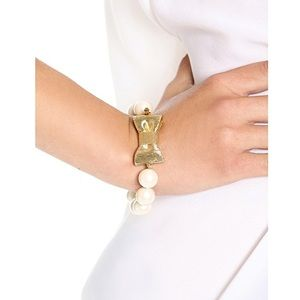 kate spade all wrapped up pearl + bow bracelet